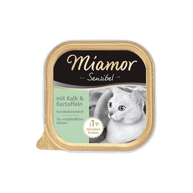 Miamor Sensibel konservai su veršiena ir bulvėmis katėms