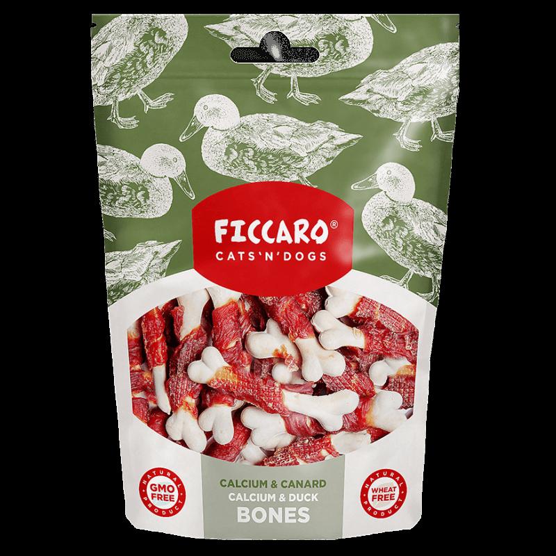 Ficcaro vištienos ir antienos kauliukai skanėstai šunims ir katėms