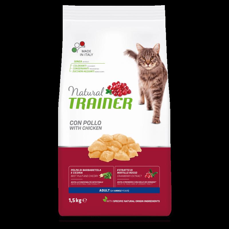 Trainer Natural Cat Adult with fresh Chicken sausas maistas su