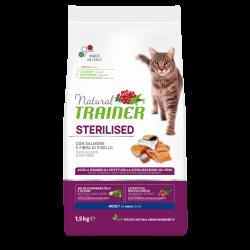 Trainer Natural Adult Cat with Salmon sausas maistas su lašiša
