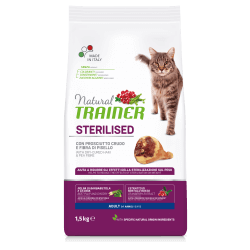 Trainer Natural Cat Adult with Dry-Cured Ham sausas maistas su