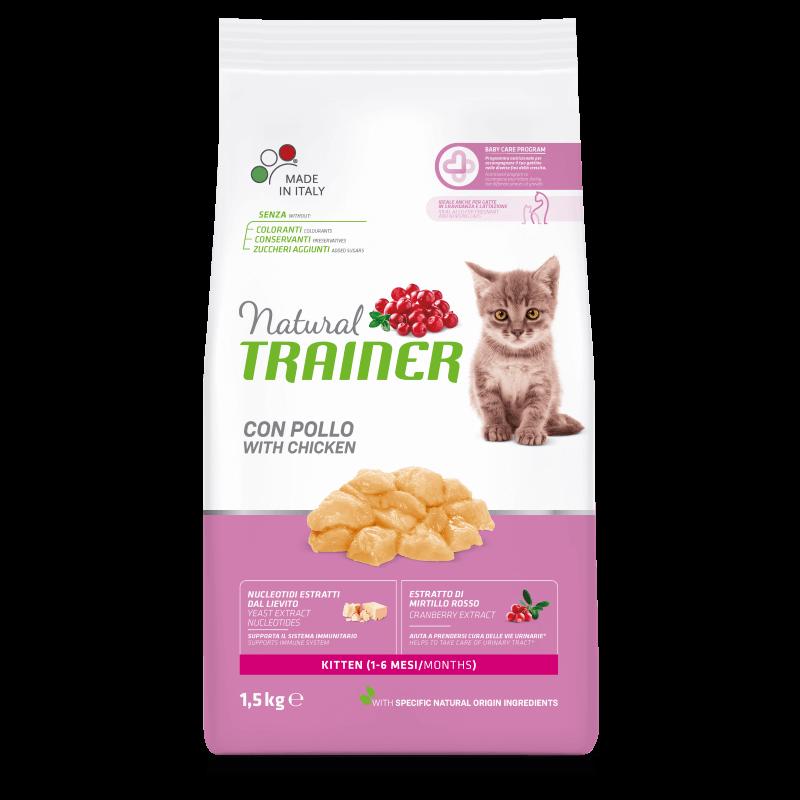 Trainer Natural Kitten with Fresh Chicken sausas maistas su