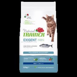 Natural Trainer Exigent Cat with Blue Fish sausas maistas su žuvimi katėms