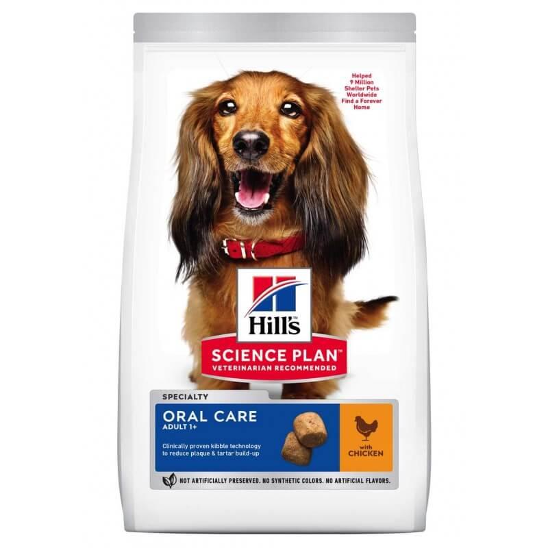 Hill's Science Plan Canine Adult Oral Care Chicken sausas maistas šunims