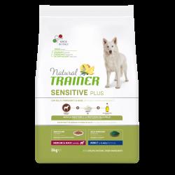 Natural Trainer Adult Medium Maxi Horse-Peas-Oil No Grain sausas maistas su arkliena šunims