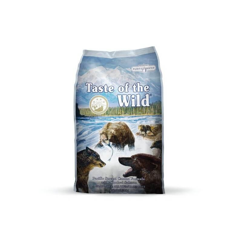 Taste of the Wild Pacific Stream sausas maistas šunims