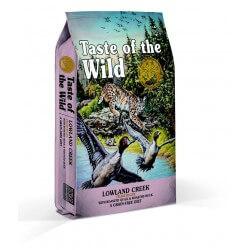 Taste of the Wild Lowland Creek sausas maistas su kepinta putpeliena ir antiena katėms