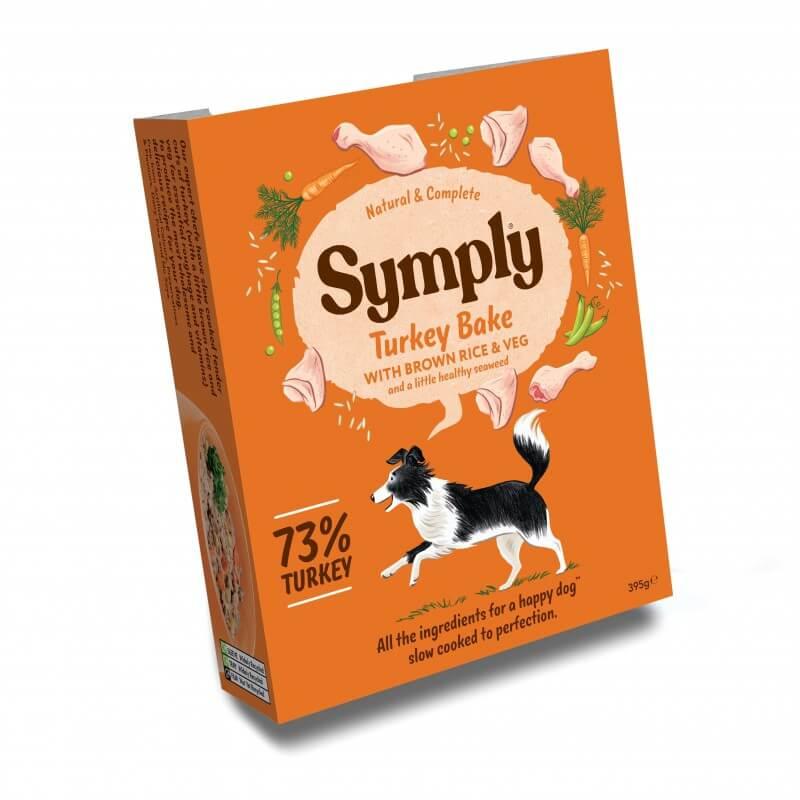 Symply konservai su kalakutiena, rudaisiais ryžiais ir daržovėmis šunims