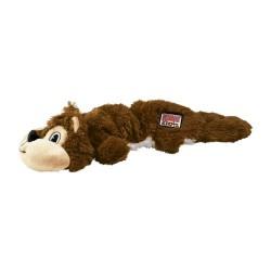 Kong Scrunch Knots minkštas žaislas voverė su virve šunims